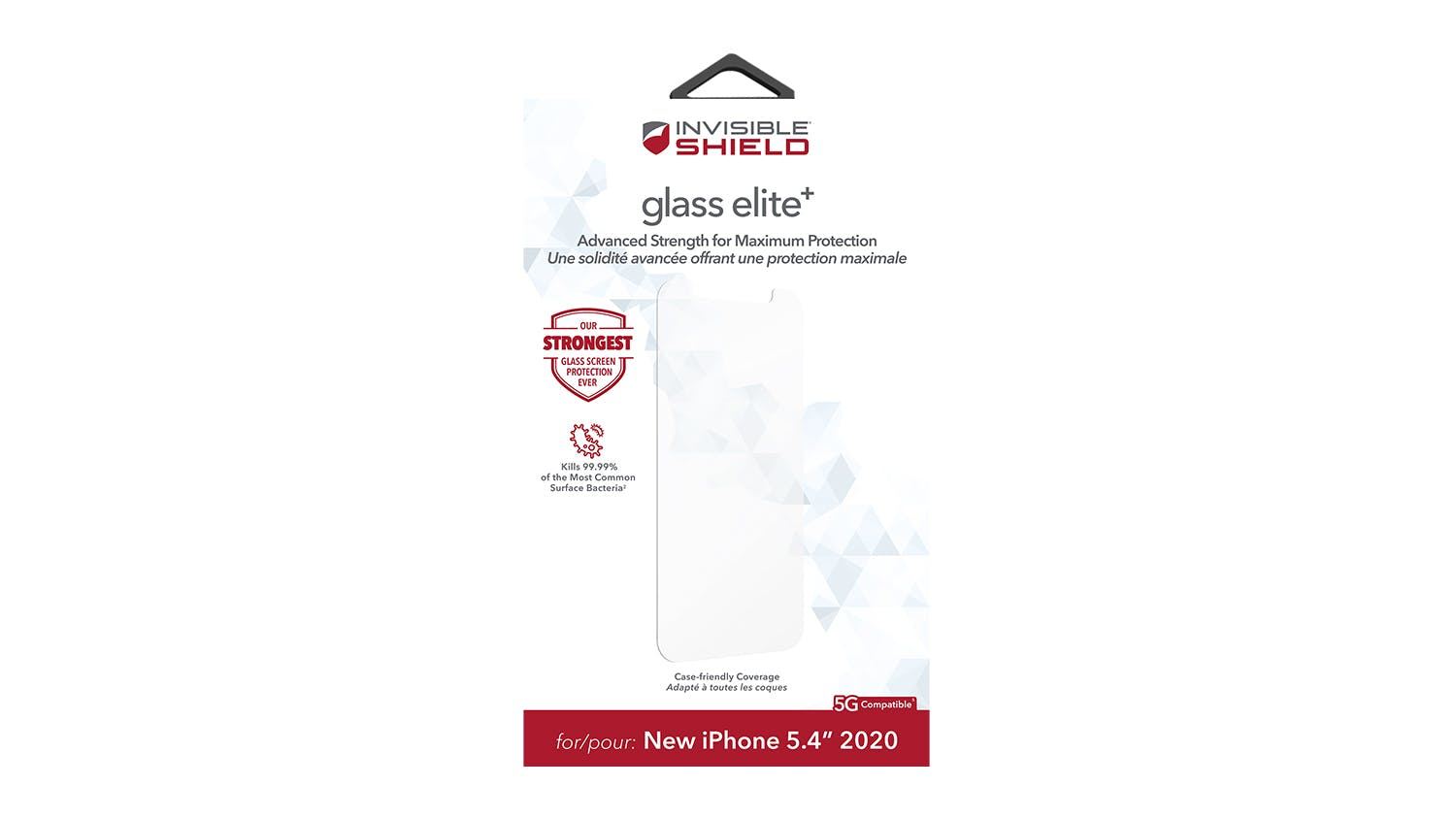 Zagg InvisibleShield Glass Elite+ for iPhone 12 mini