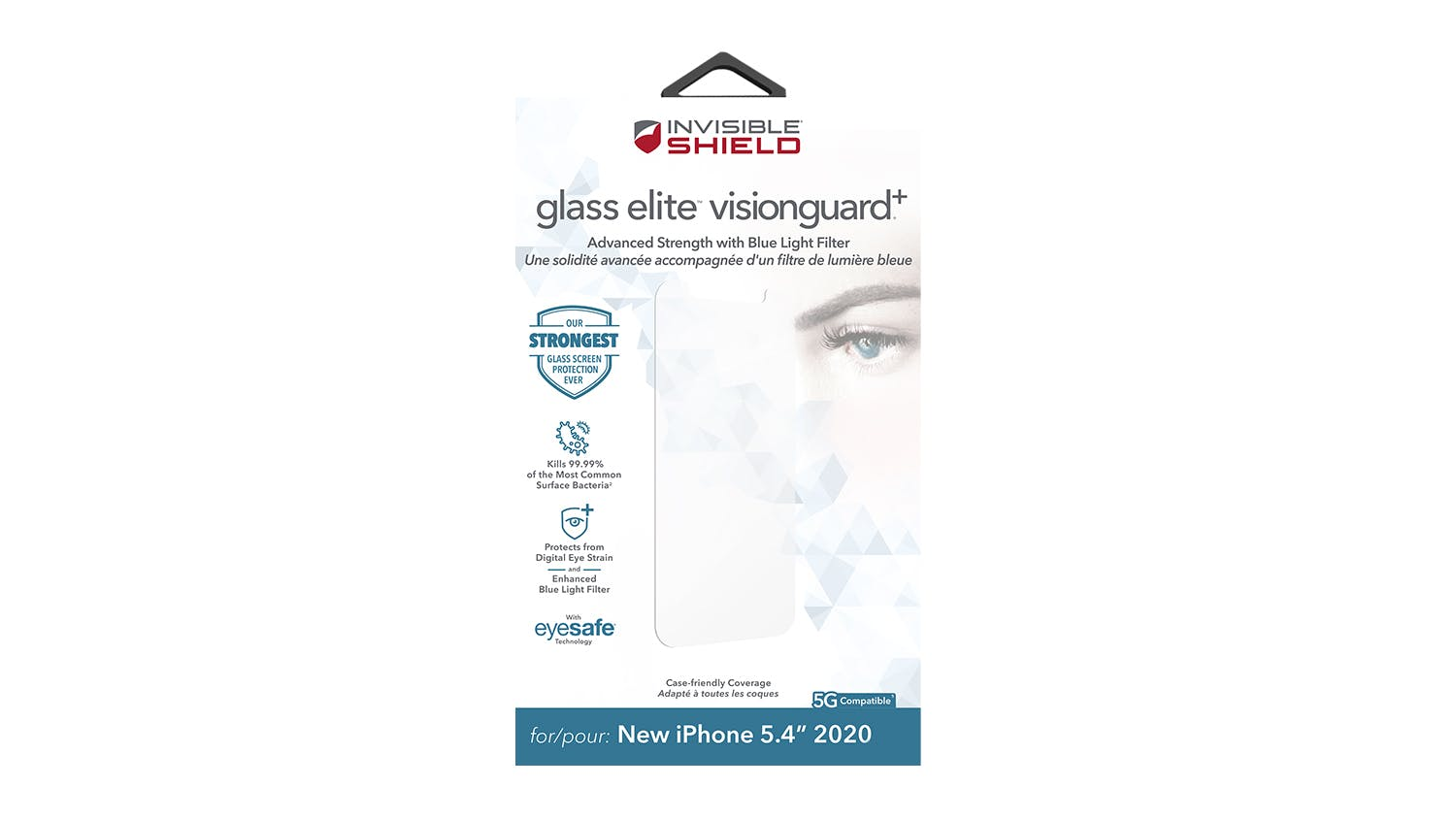 Zagg InvisibleShield Glass Elite Visionguard+ for iPhone 12 mini