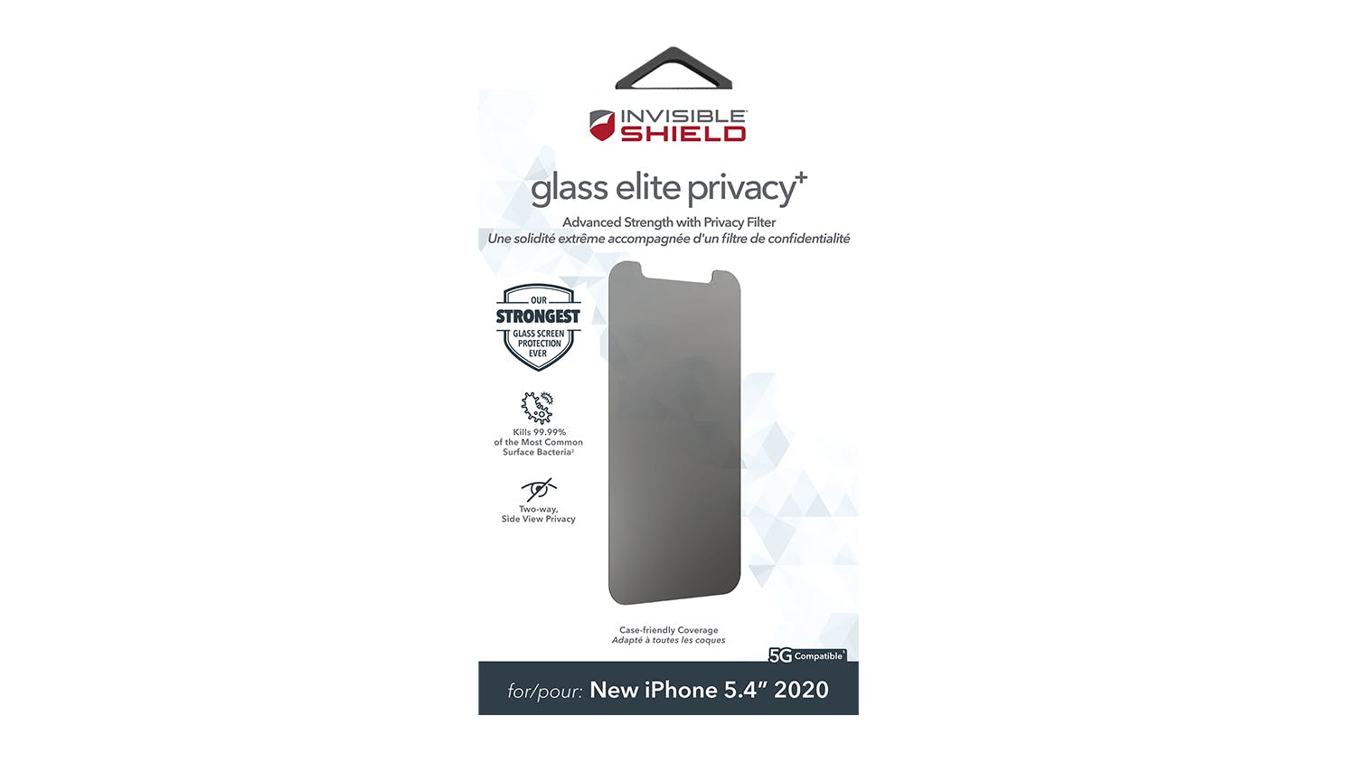 Zagg InvisibleShield Glass Elite Privacy+ for iPhone 12 mini