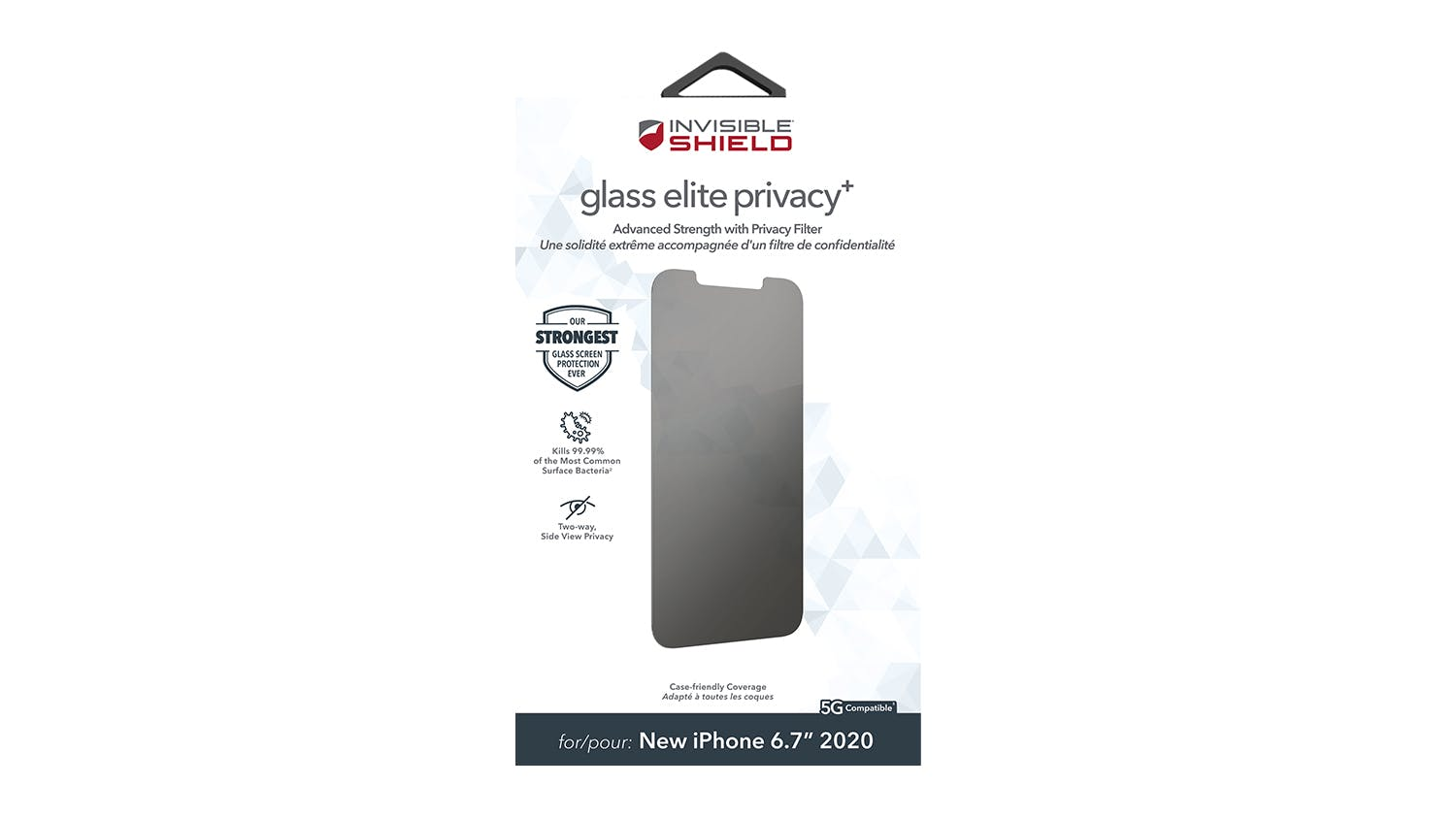 Zagg InvisibleShield Glass Elite Privacy+ for iPhone 12 Pro Max