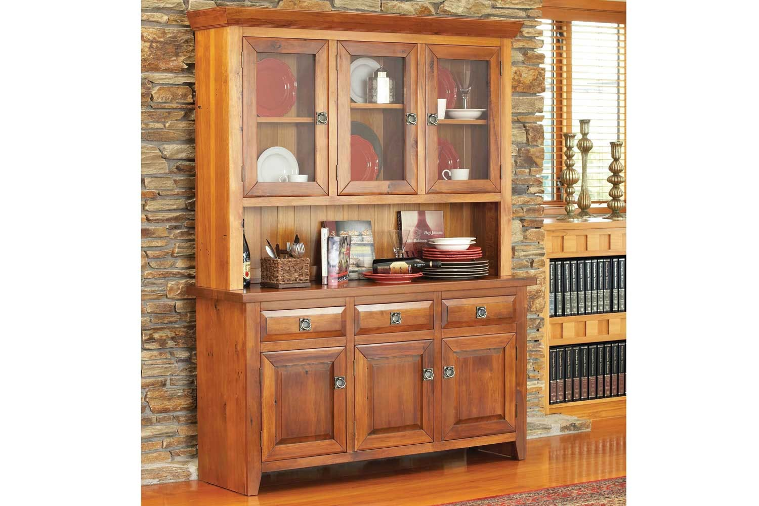 Remarkable Clutha Buffet With Hutch By Woodpecker Furniture Download Free Architecture Designs Scobabritishbridgeorg