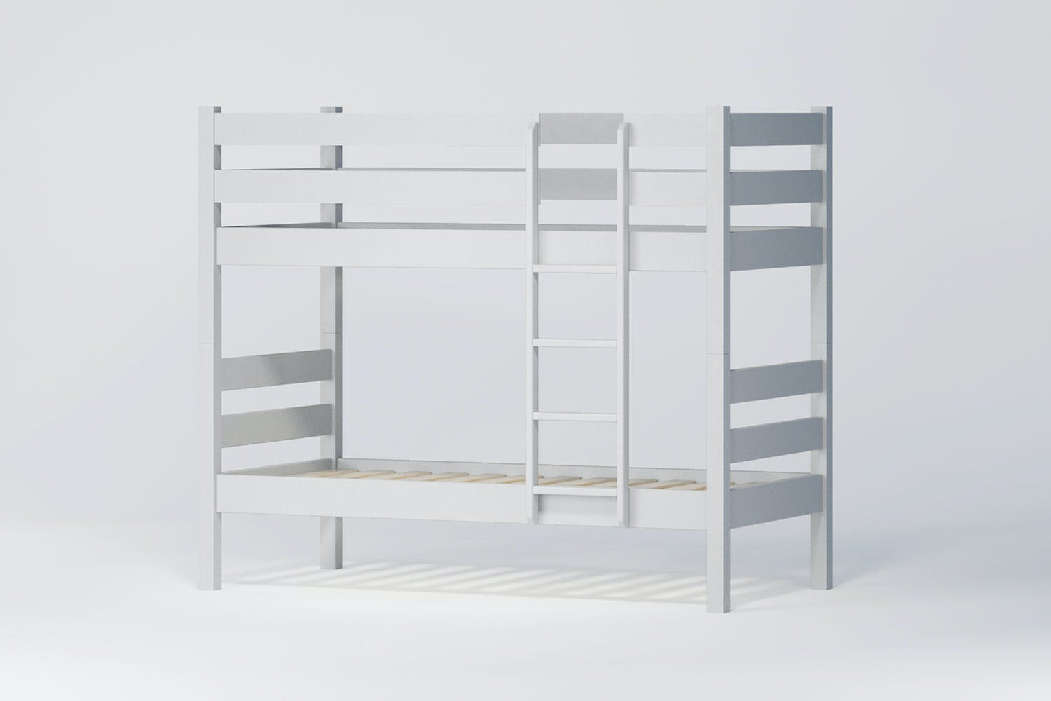 Noah King Single Bunk Bed Frame by Coastwood Furniture - White