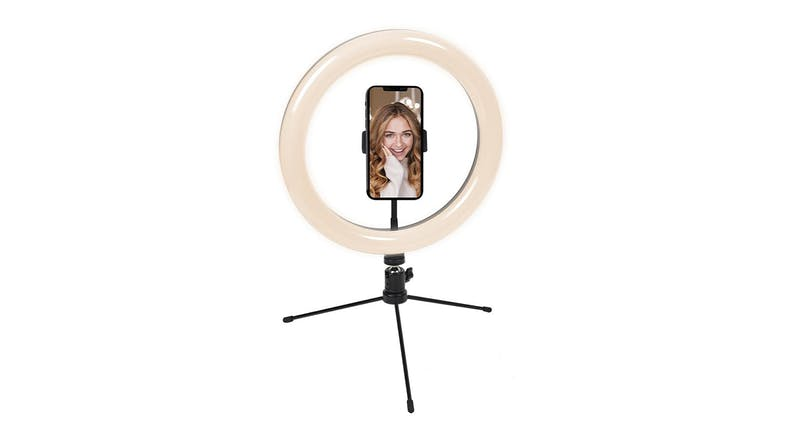 "Cygnett V-Glamour 10"" Ring Light with Tripod & Bluetooth Remote"
