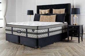 Majestic Medium Californian King Bed by Beautyrest Black