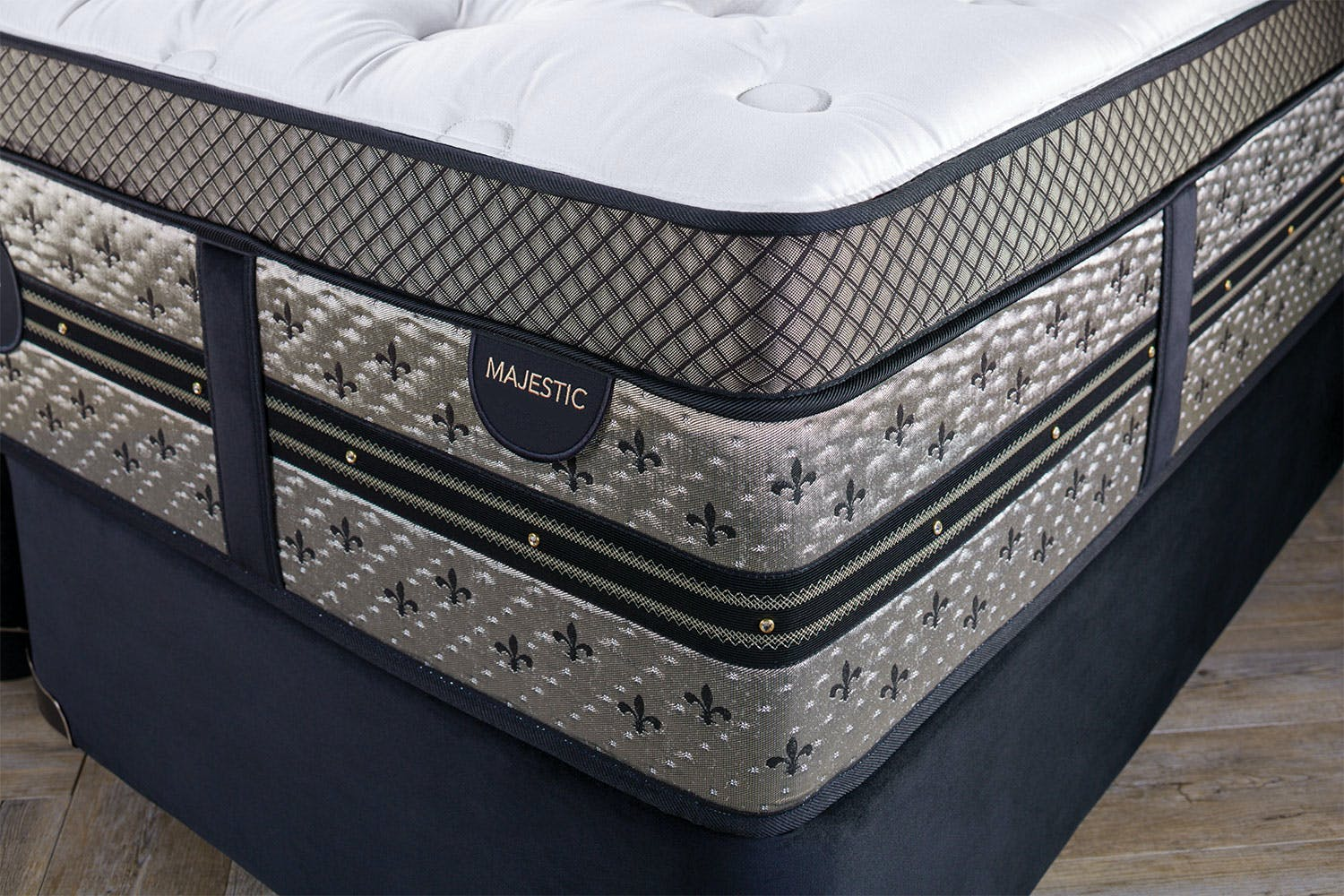 Majestic Firm Californian King Bed by Beautyrest Black