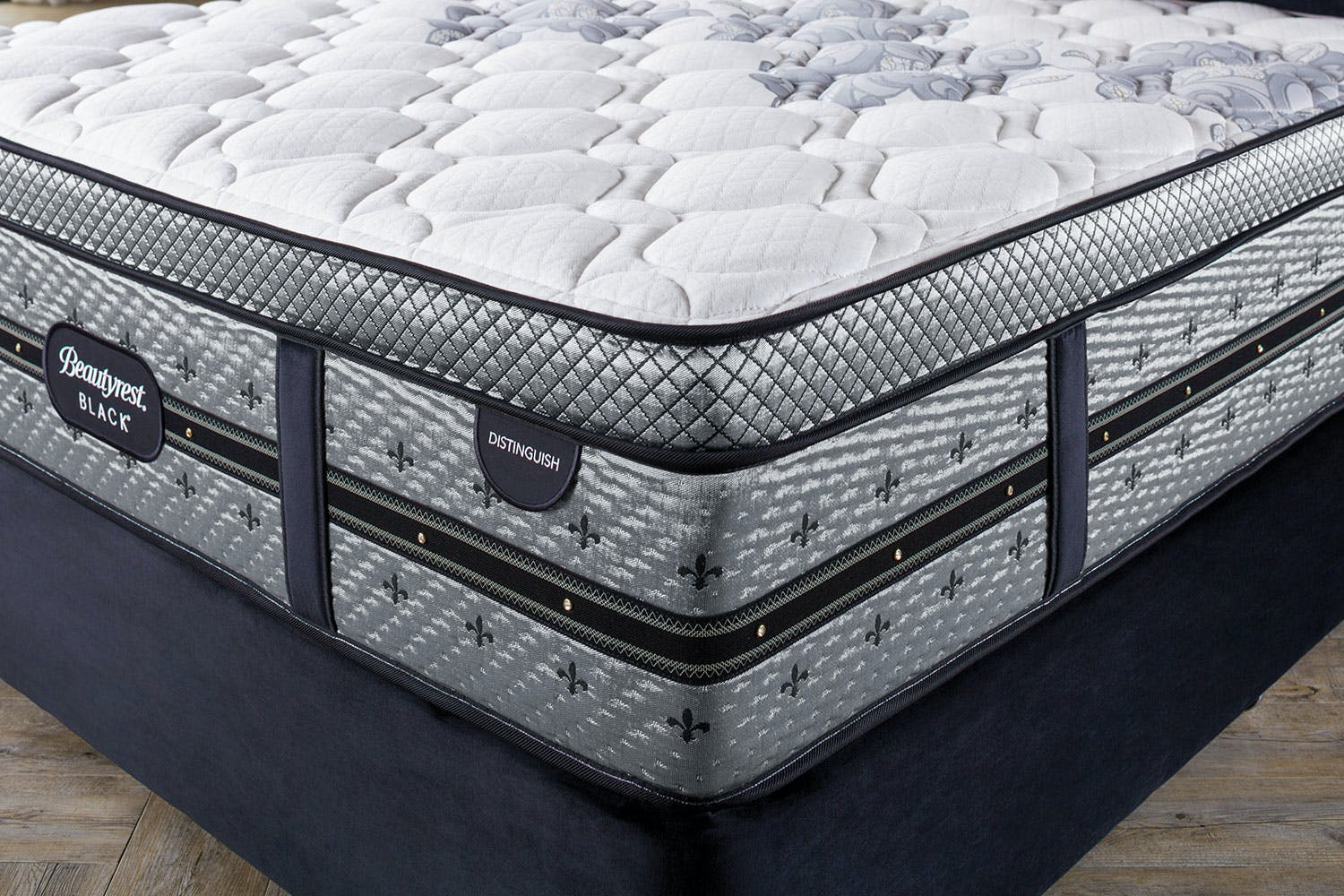 Distinguish Medium Super King Bed by Beautyrest Black