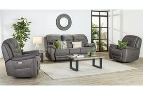 Bundaberg 3 Piece Fabric Recliner Lounge Suite