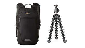 Joby GorillaPod 1K Compact Tripod + Lowepro Photo Hatch Backpack AW II Bundle