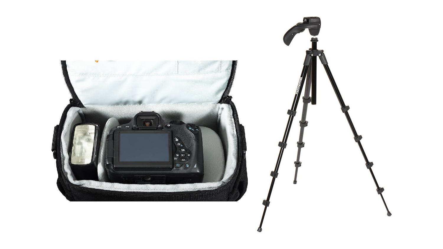 Lowepro Adventure SH160 II + Manfrotto Compact Action Tripod Bundle