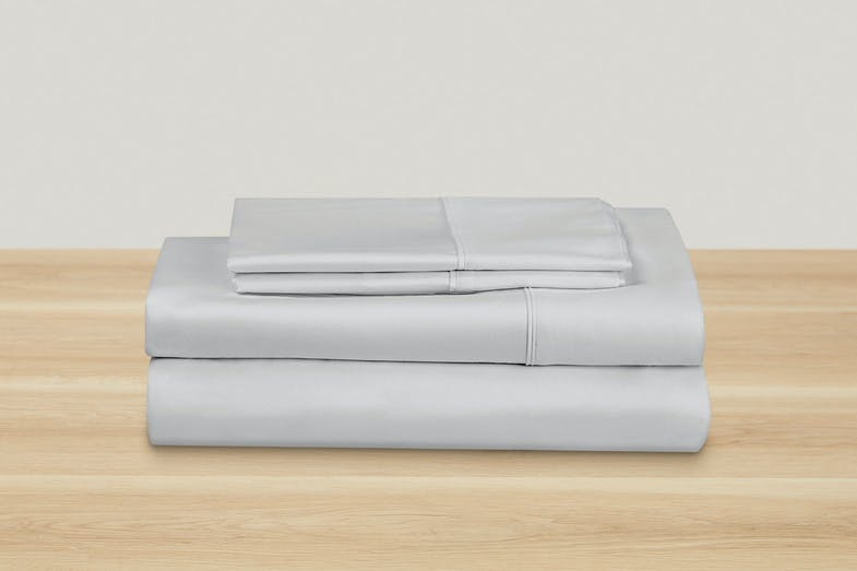 500TC Cotton Sateen Silver Sheet Set by Top Drawer