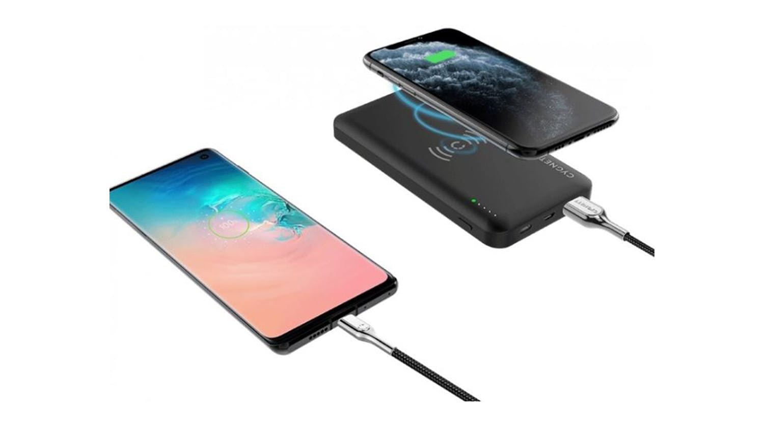 Cygnett ChargeUp Force 5,000mAh Power Bank with 5W Wireless Charging