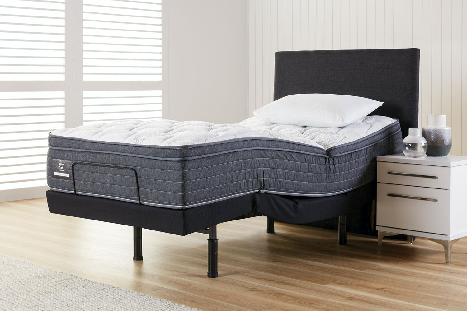 King Koil Conforma Deluxe Medium King Single Mattress with Enhance Adjustable Base by AH Beard