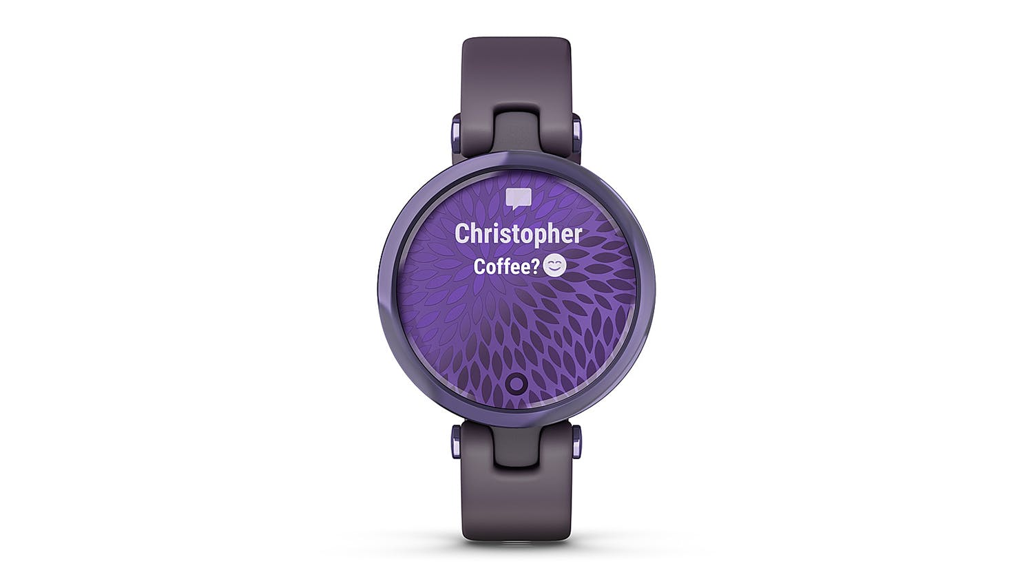 Garmin Lily - Midnight Orchid Bezel with Deep Orchid Case and Silicone Band