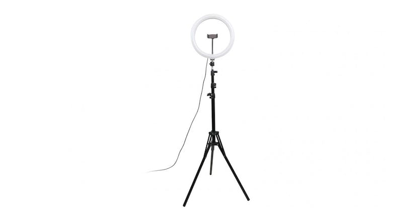 "Cygnett V-Pro Travel  12"" Ring Light with Tripod & Bluetooth Remote"