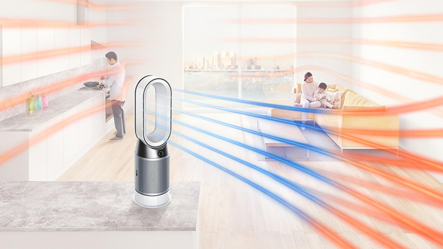 Dyson Hot Cool HP04 Air Purifier - White Silver
