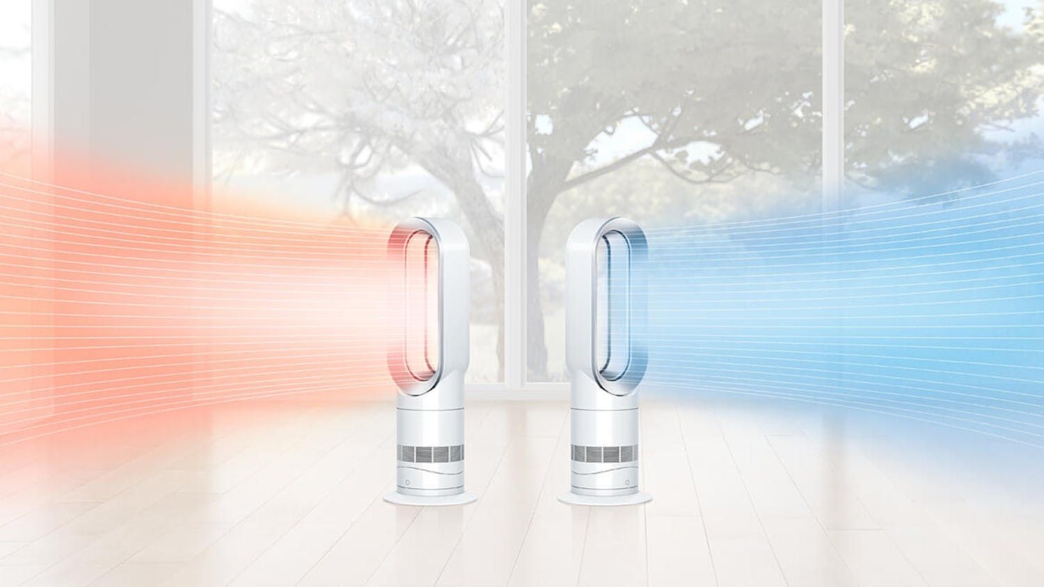 Dyson AM09 Air Multiplier Fan/Heater - White/Nickel
