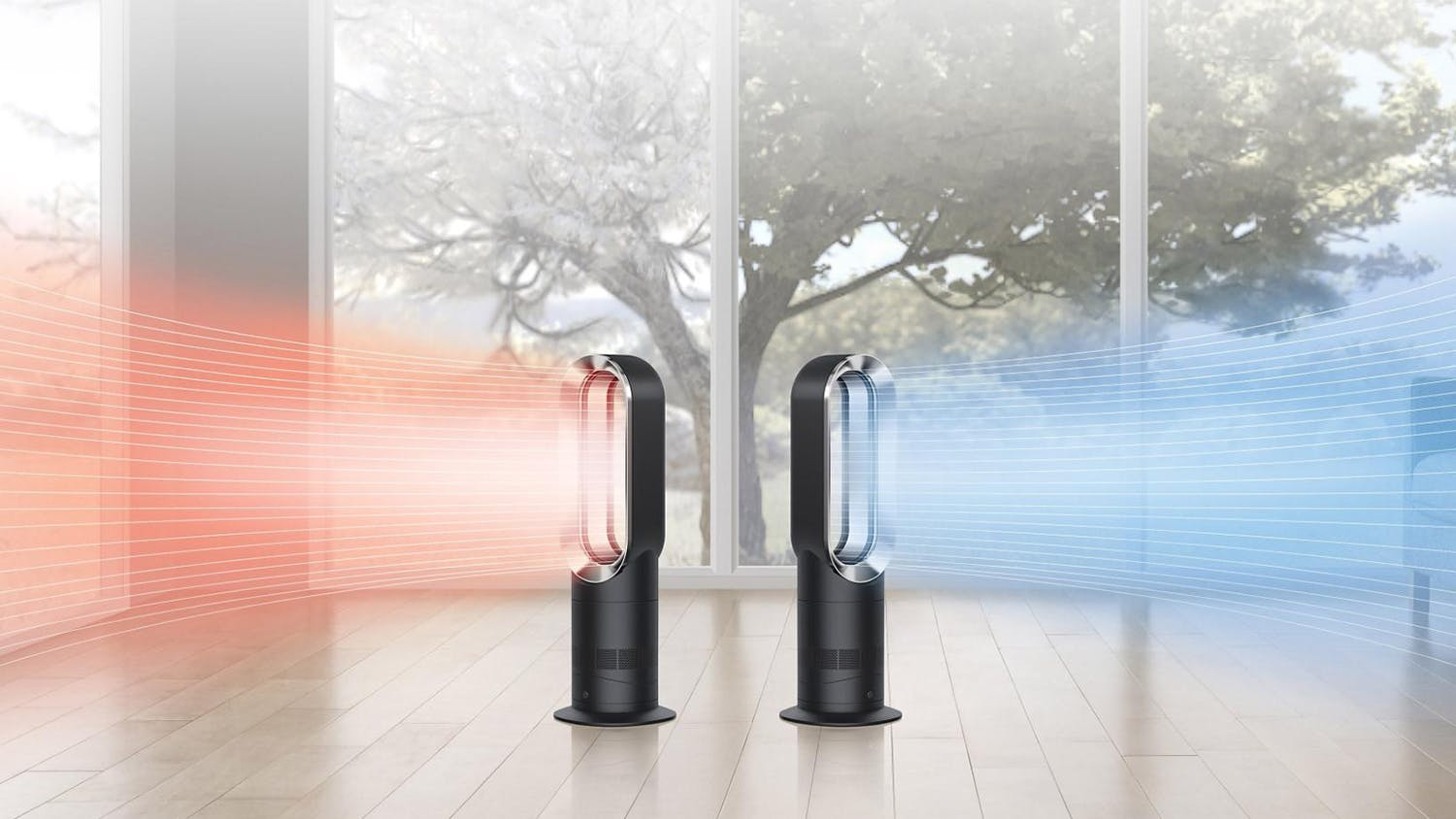Dyson AM09 Air Multiplier Fan/Heater - Black/Nickel