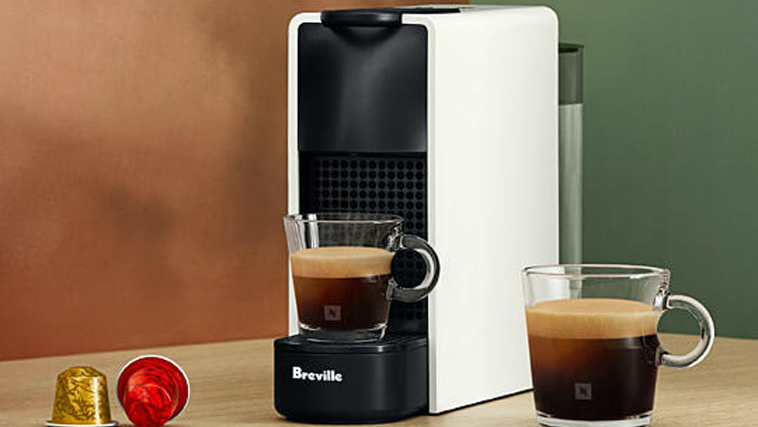 "Nespresso Breville ""Essenza Mini"" Espresso Machine - Pure White"