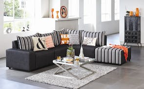 Zone 5 Piece Modular Fabric Lounge Suite by Furniture Haven