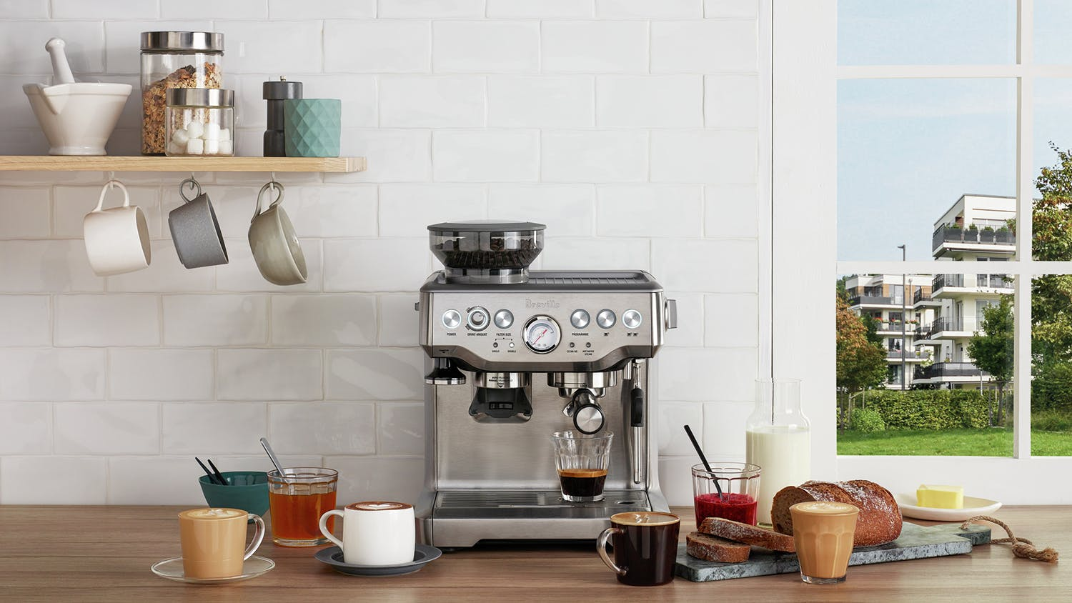 "Breville ""the Barista Express"" Espresso Machine"