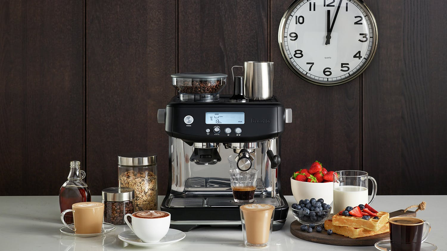 "Breville ""the Barista Pro"" Espresso Machine - Black Truffle"