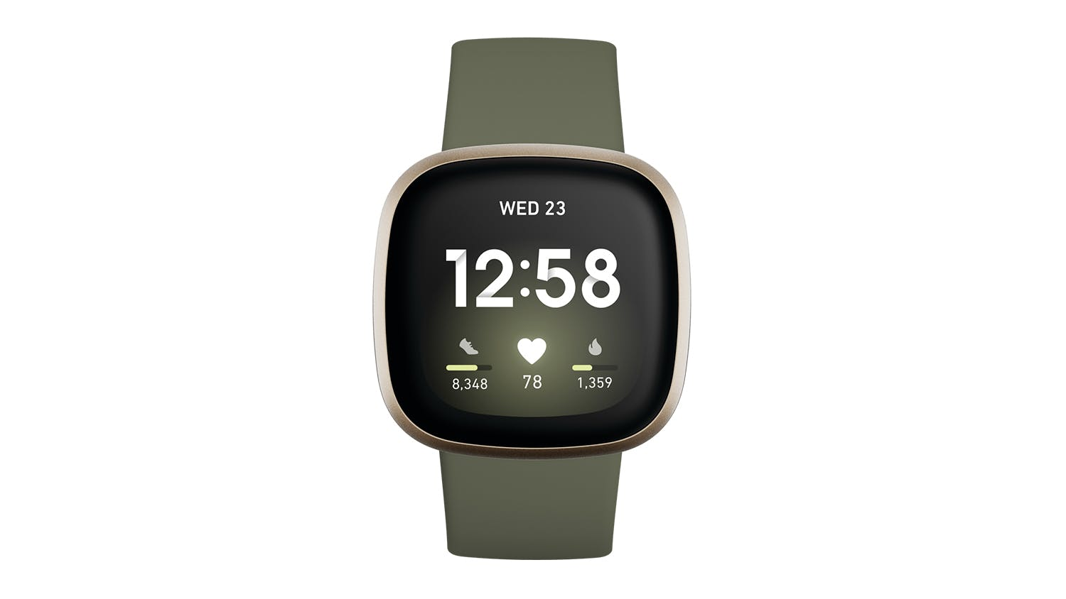 Fitbit Versa 3 - Olive/Soft Gold