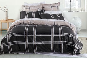 Charlie Slate Duvet Cover Set by Logan & Mason
