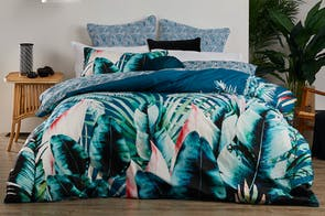 Mauritius Teal Duvet Cover Set by Logan & Mason