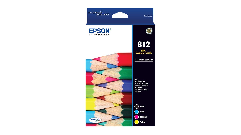 Image of Epson 812 Standard Capacity DURABrite Ultra Ink Cartridge - Value Pack