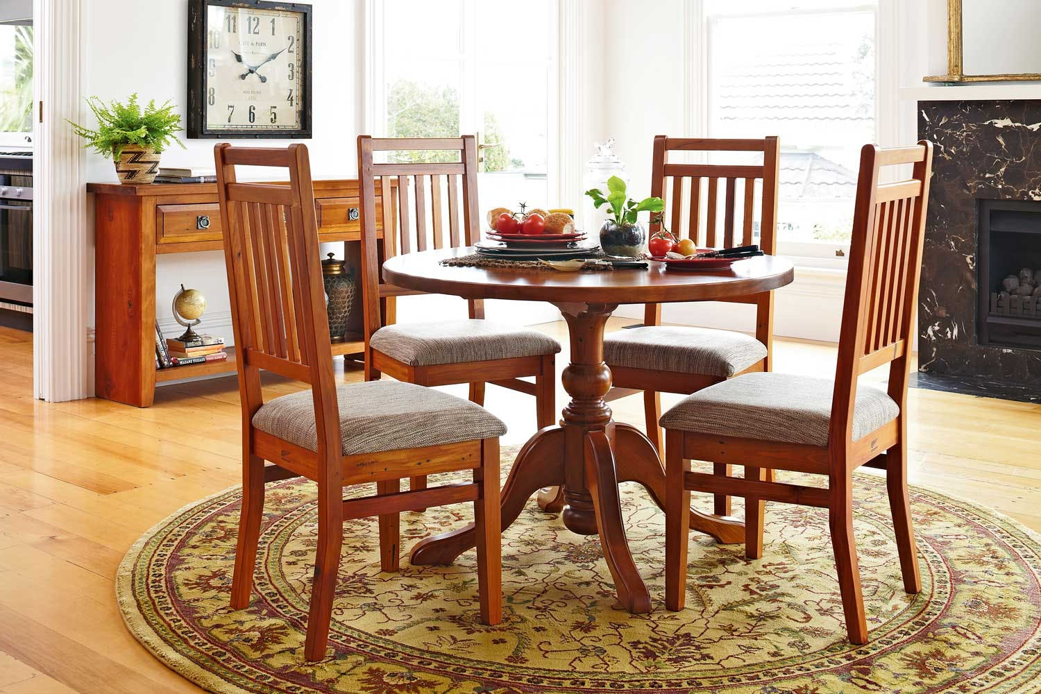 Clutha 5 Piece Round Dining Suite By Woodpecker Furniture Harvey Norman New