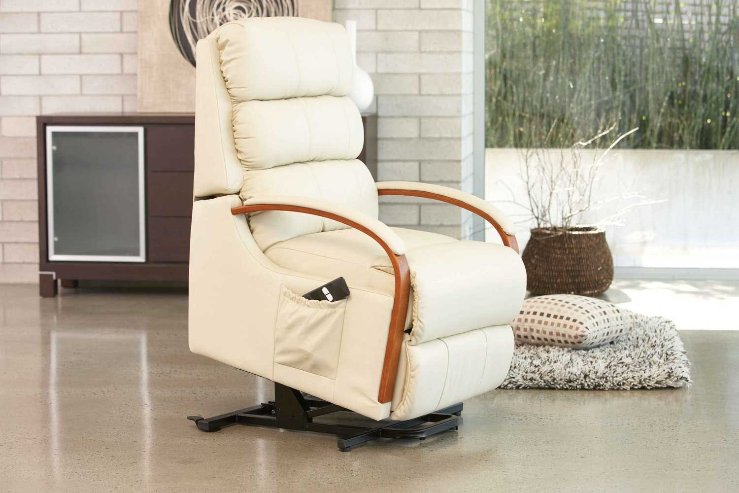 charleston electric leather lift chair by la z boy harvey norman