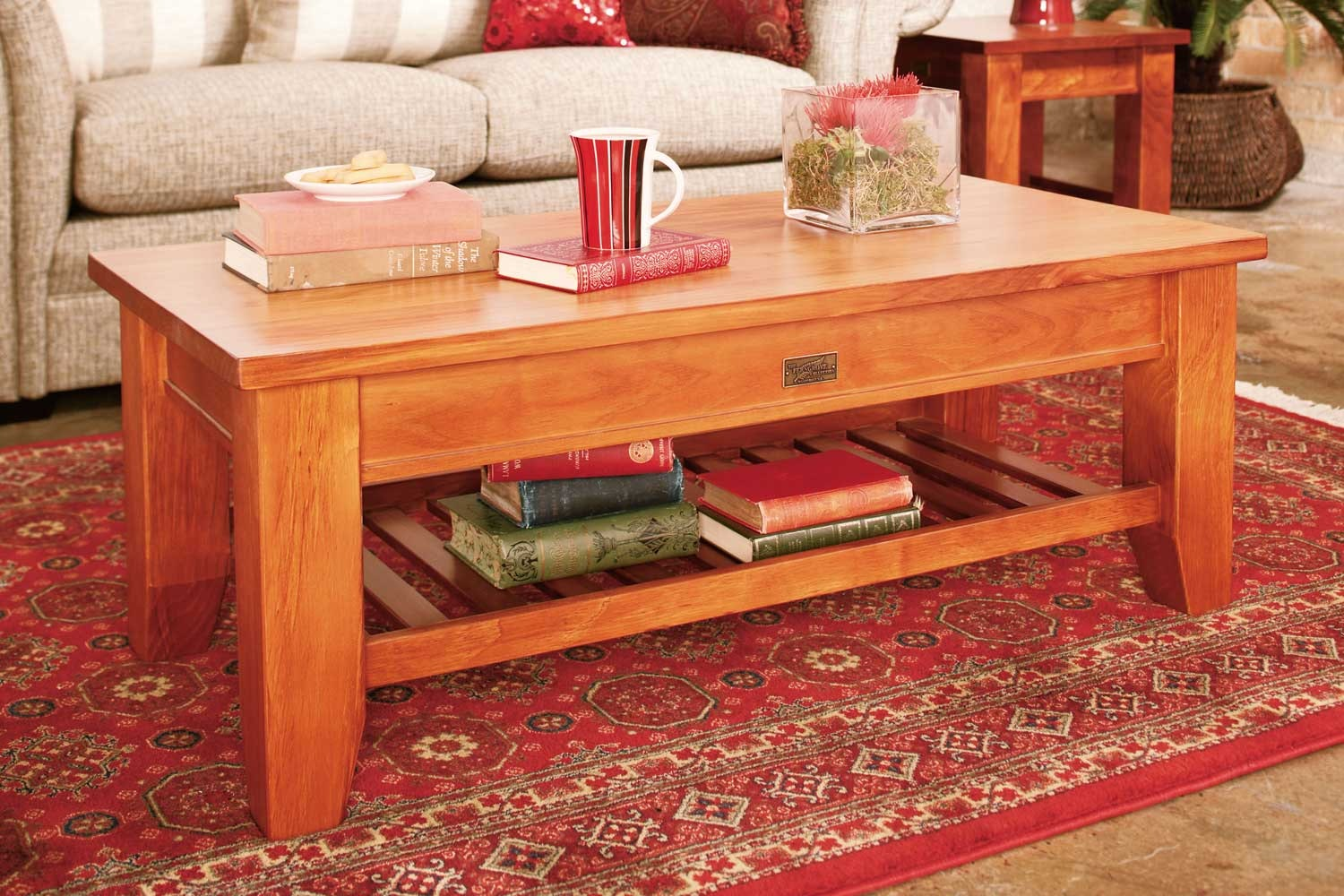 Ferngrove Coffee Table with Rack