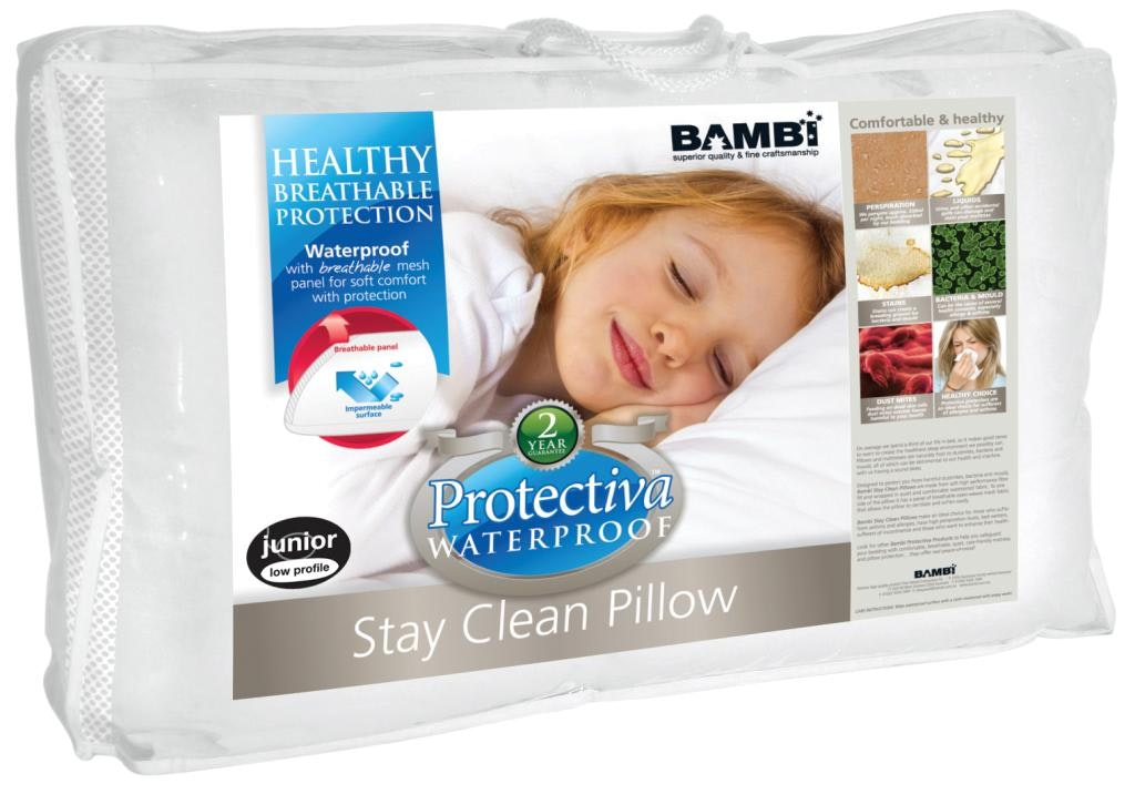 Stay Clean Standard Pillow by Bambi