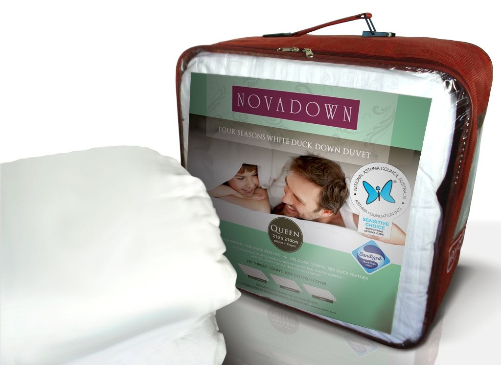 4 Seasons White Duck Down Duvet Inner By Novadown