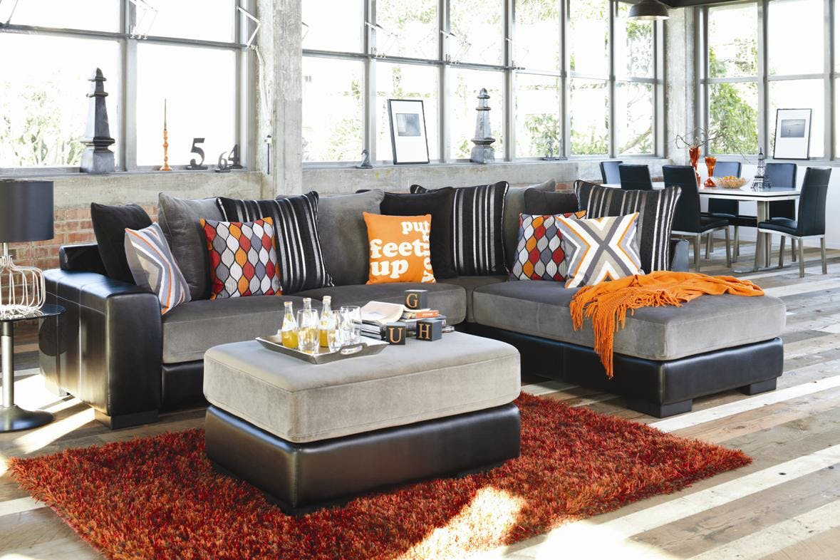 Boston 3 Seater Fabric Sofa With Chaise Harvey Norman