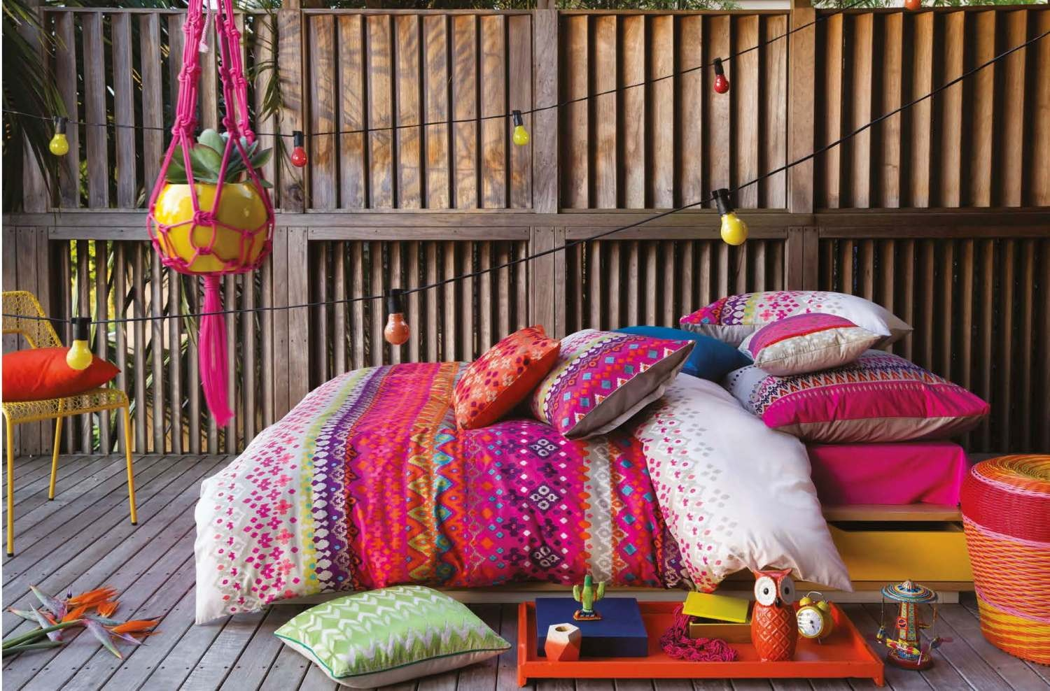 Bright, Colourful Anaya Quilt Set