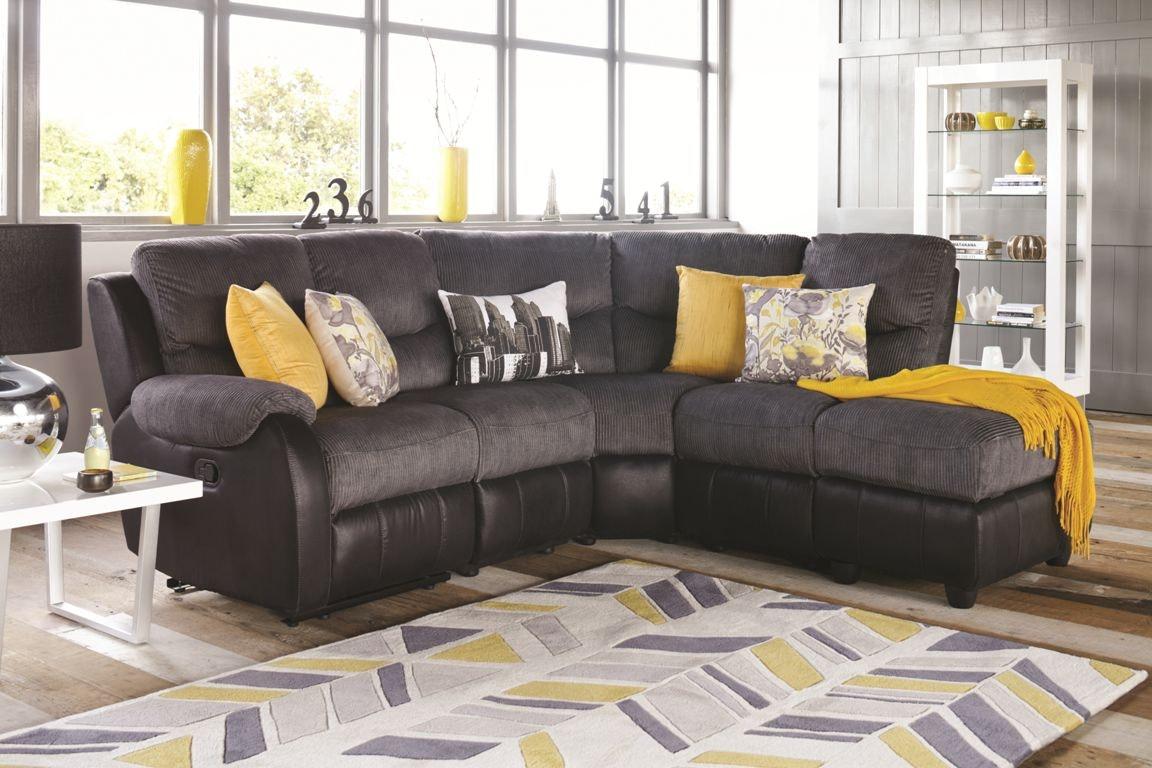 Barcelona Corner 2 Toned Lounge - fabric