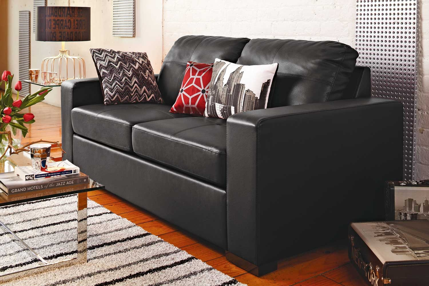 Lilly Sofa Bed Black