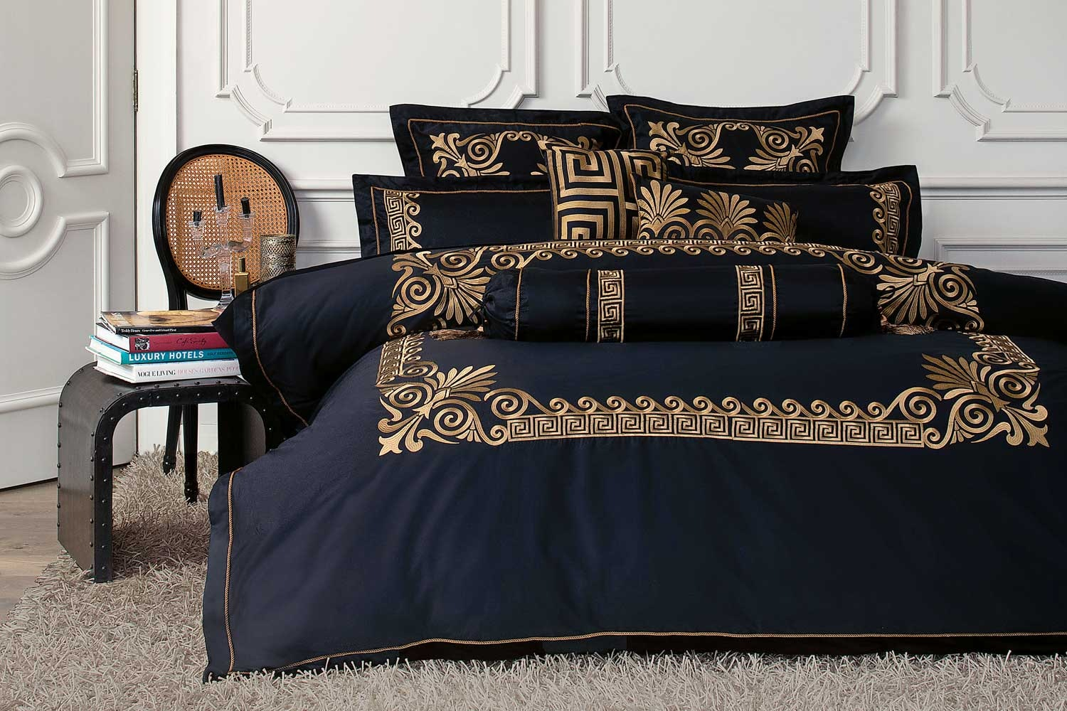 Black Gold Duvet Cover