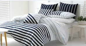 Blue Stripe Duvet Cover