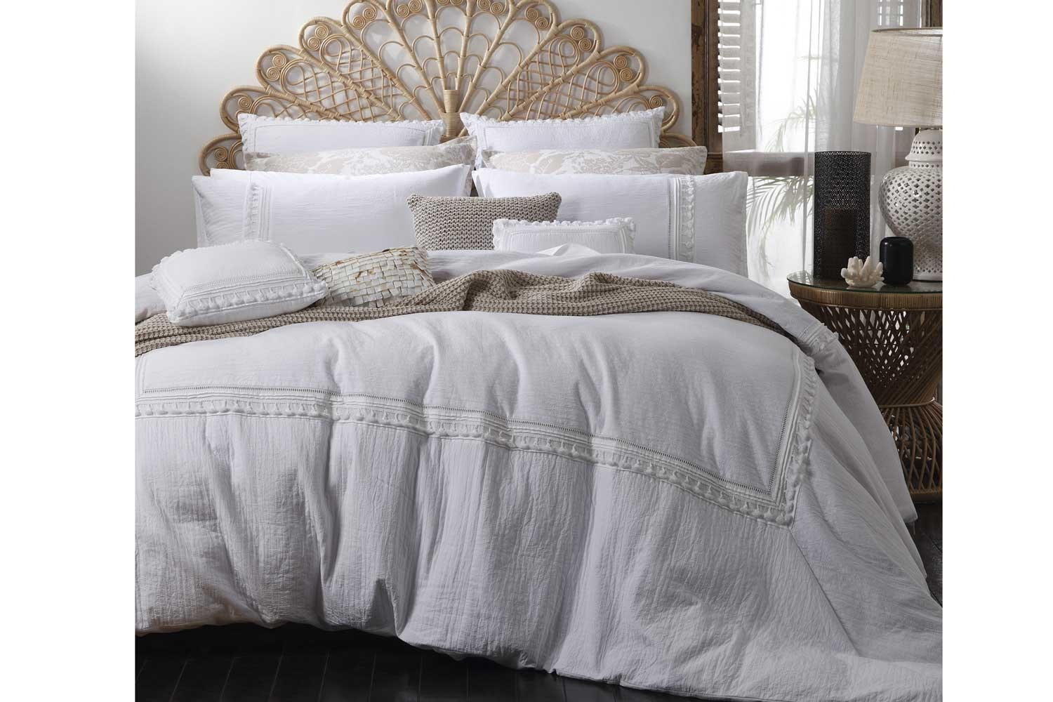 White Duvet Cover - Amirah