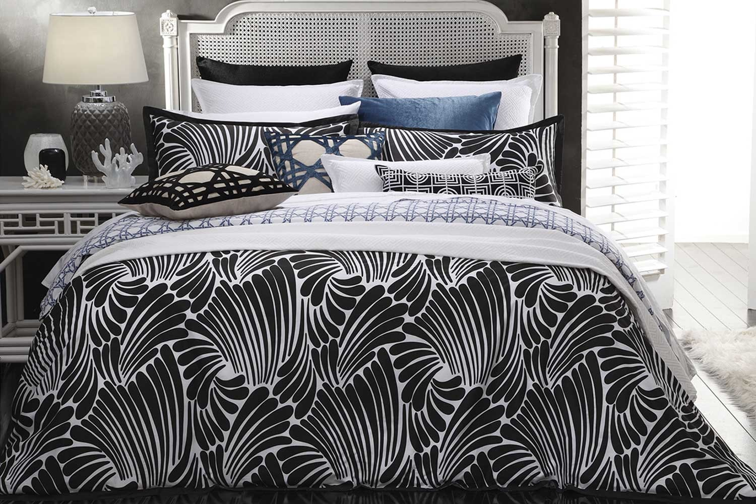 Fingers Black Duvet Cover