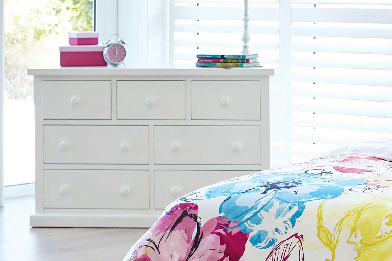 Cottingham Kids White 7 Drawer Lowboy by Debonaire Furniture
