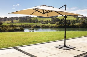 Jupiter Square 3m Cantilever Umbrella by Peros - Linen