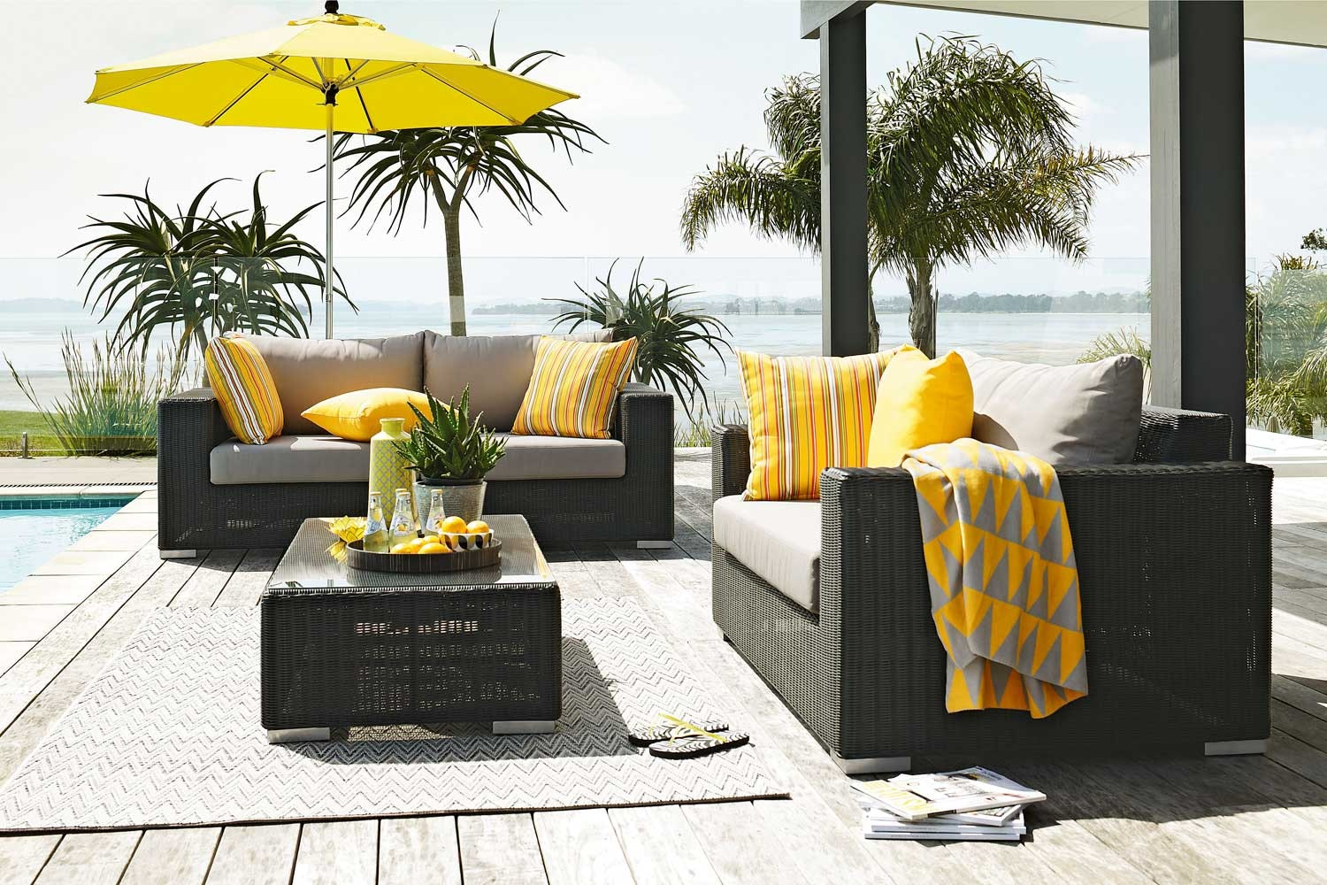 Magnetic Wicker 3 Piece Outdoor Lounge Suite