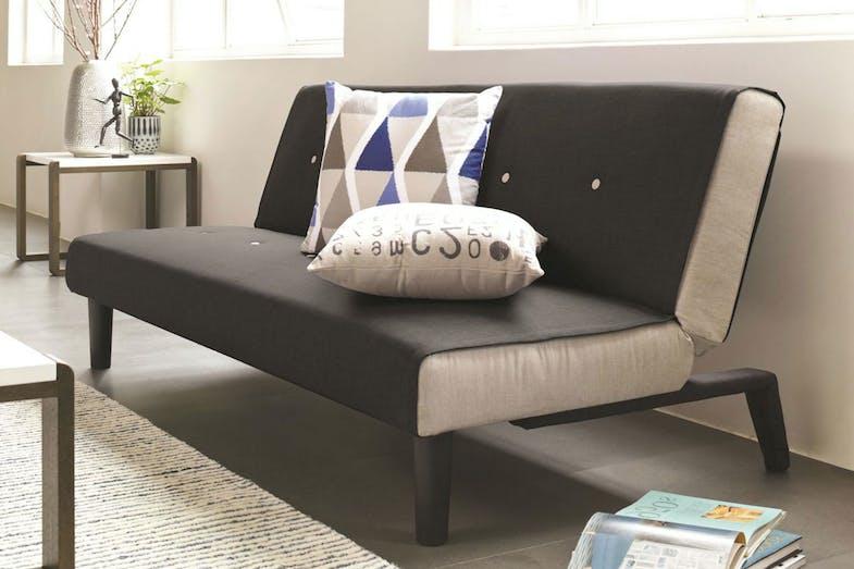 Oslo sofa bed black harvey norman new zealand for Sofa bed new zealand