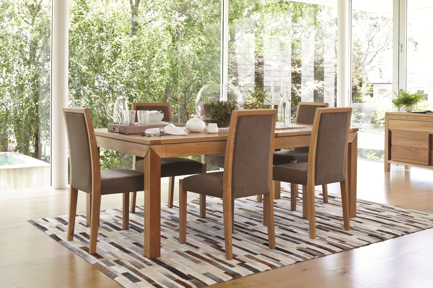 Zac 7 Piece Extension Dining Suite (140 cm - 190 cm) by Southland Furniture
