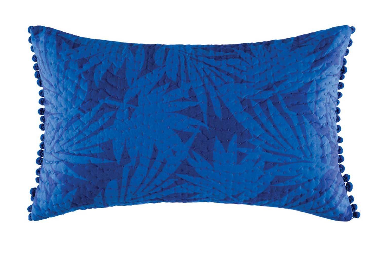 Jungle Leaf Cushion - Blue by Kas