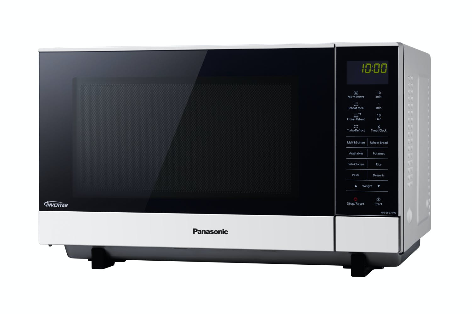 Panasonic 27l Flatbed Inverter Microwave Oven White