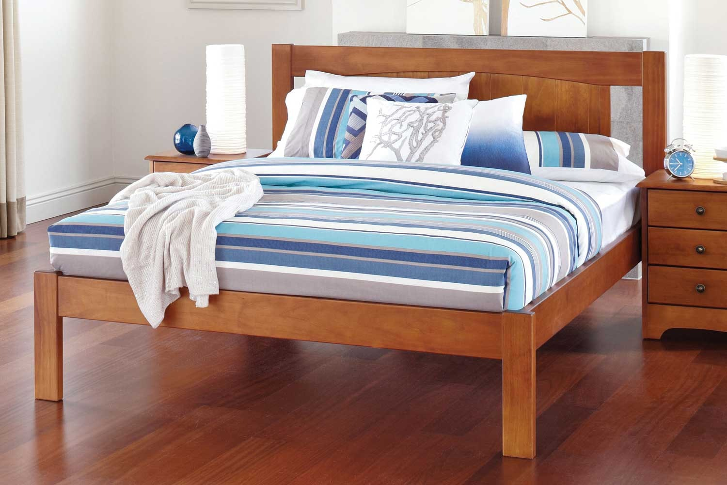 Calais Queen Bed Rimu Stain